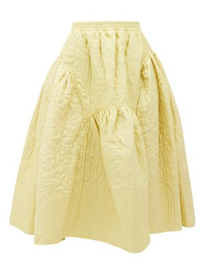 Cecilie Bahnsen eve quilted-silk midi skirt