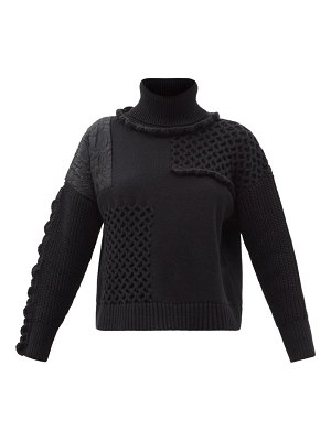 Cecilie Bahnsen franki scalloped patchwork roll-neck sweater