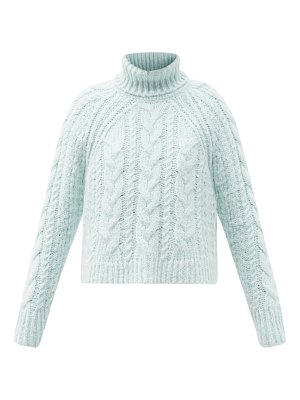 Cecilie Bahnsen freja roll-neck cable-knit silk sweater