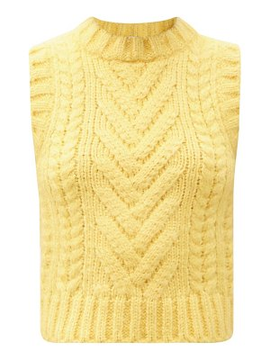 Cecilie Bahnsen frida ribbed & cable-knit sleeveless silk sweater