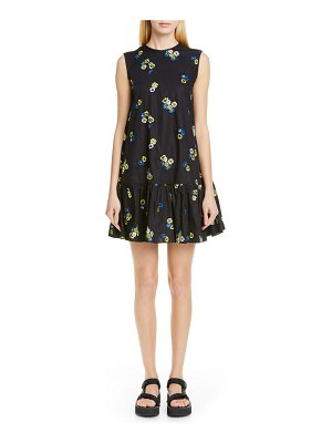 Cecilie Bahnsen lala embroidered trapeze dress