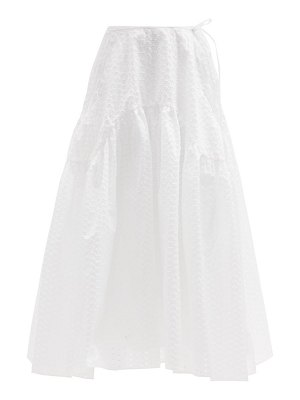 Cecilie Bahnsen lilly gathered fil-coupé skirt