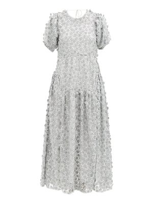 Cecilie Bahnsen liza open-back floral-embroidered tulle dress
