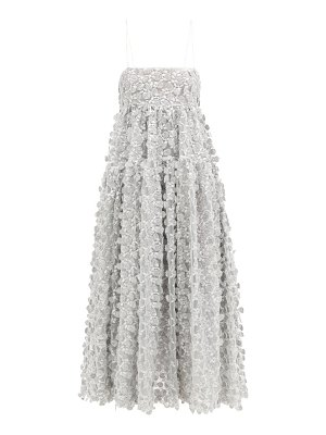 Cecilie Bahnsen lucy open-back floral-embroidered tulle dress