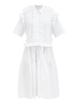 Cecilie Bahnsen lydia ruffled tiered cotton shirt dress