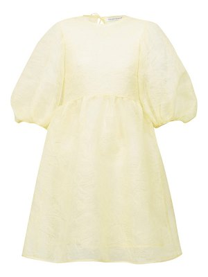 Cecilie Bahnsen mabel puff-sleeve laddered-organza dress