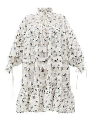 Cecilie Bahnsen macy oversized pleated rose fil-coupé shirtdress
