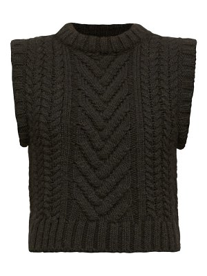 Cecilie Bahnsen madelyn cable-knit sleeveless sweater