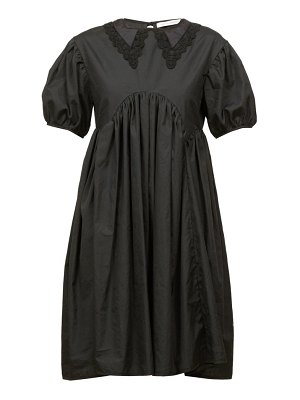 Cecilie Bahnsen malou lace-trimmed tie-back cotton-poplin dress