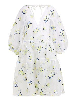 Cecilie Bahnsen manila floral embroidered silk organza dress