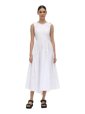 Cecilie Bahnsen Open back cotton poplin midi dress