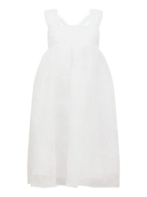 Cecilie Bahnsen pandora pintucked organza midi dress