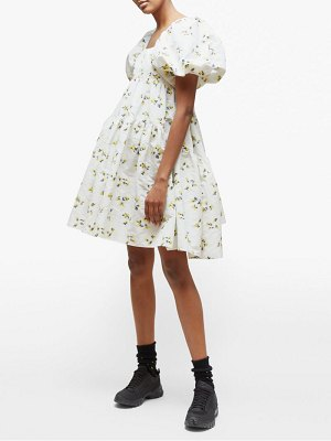 Cecilie Bahnsen ronja tiered floral fil coupé mini dress