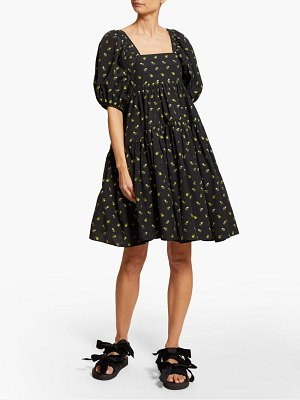 Cecilie Bahnsen ronja tiered floral fil coupé cotton dress