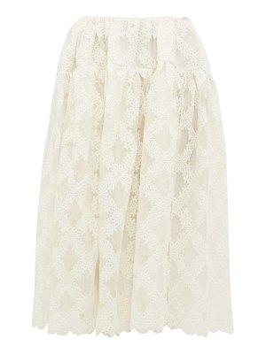 Cecilie Bahnsen rosa lee floral embroidered organza skirt