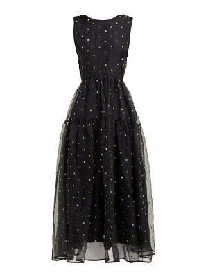 Cecilie Bahnsen ruth floral beaded silk organza midi dress