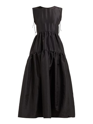 Cecilie Bahnsen ruth tie back tiered faille dress