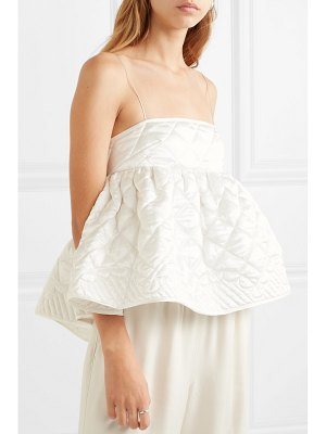 Cecilie Bahnsen selena open-back quilted silk-satin top