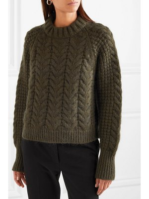 Cecilie Bahnsen selma cable-knit merino wool-blend sweater