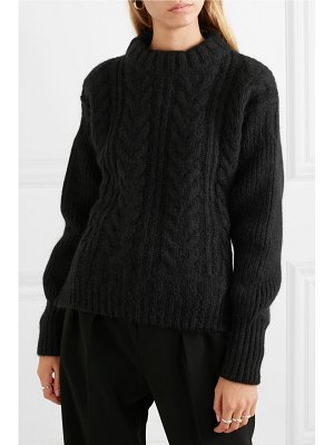 Cecilie Bahnsen selma open-back cable-knit merino wool-blend sweater