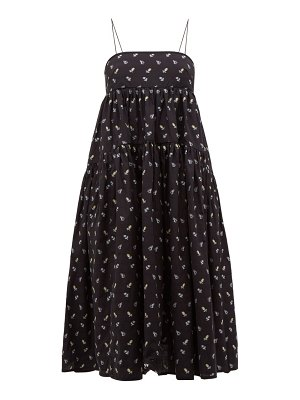 Cecilie Bahnsen sofie floral embroidered open back cotton dress