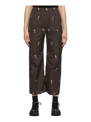 Cecilie Bahnsen ssense exclusive brown amber trousers