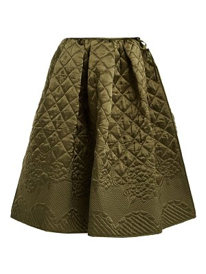 Cecilie Bahnsen Sybil Quilted Silk Skirt