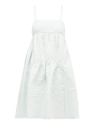 Cecilie Bahnsen top-stitched quilted silk dress