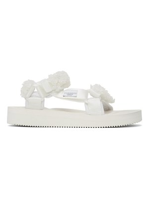 Cecilie Bahnsen white suicoke edition maria beaded sandals