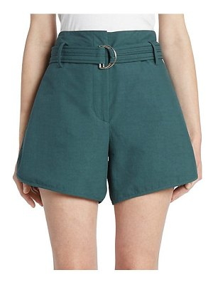 CÉDRIC CHARLIER belted cotton shorts
