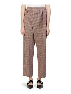 Cedric Charlier belted micro check pants