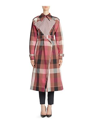 Cedric Charlier check trench coat