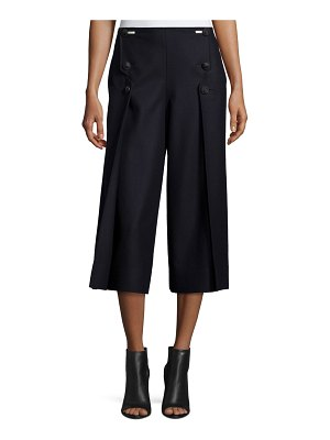 Cedric Charlier Cropped Button-Front Pants