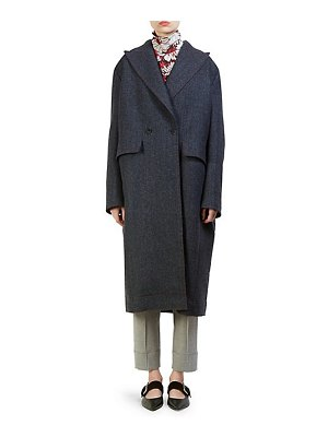 Cedric Charlier double-breasted plaid back jacket