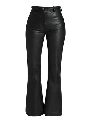 CÉDRIC CHARLIER flare leather pants