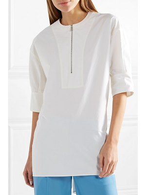 CÉDRIC CHARLIER knotted cotton-poplin top