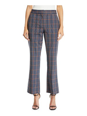 Cedric Charlier Plaid Flared-Leg Cropped Trousers