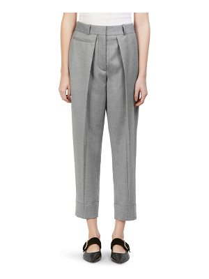 Cedric Charlier pleat-front cropped pants