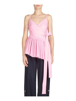 Cedric Charlier pleated wrap front top