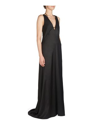 Cedric Charlier plunging v-neck gown