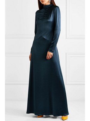 CÉDRIC CHARLIER ruched satin gown