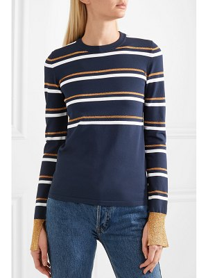 CÉDRIC CHARLIER striped metallic knitted sweater