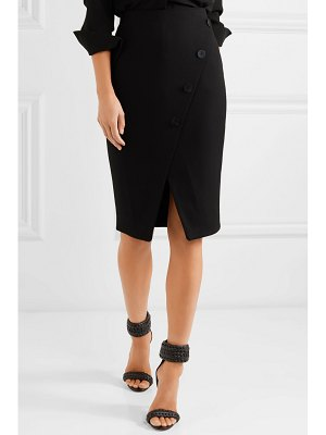 CEFINN button-embellished stretch-crepe pencil skirt
