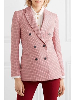 CEFINN double-breasted houndstooth wool-blend blazer