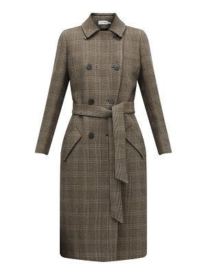 CEFINN sullivan checked double breasted cotton blend coat