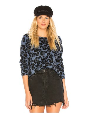 Central Park West Leopard Boat Neck Sweater