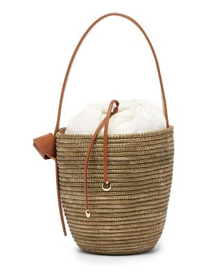 Cesta Collective lunchpail sisal woven bucket bag
