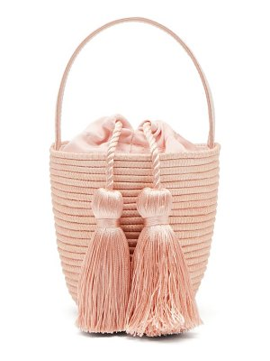 Cesta Collective party pail woven sisal bucket bag