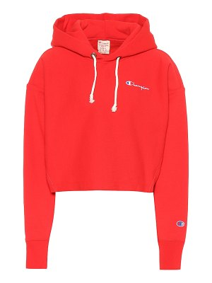Champion cropped cotton hoodie