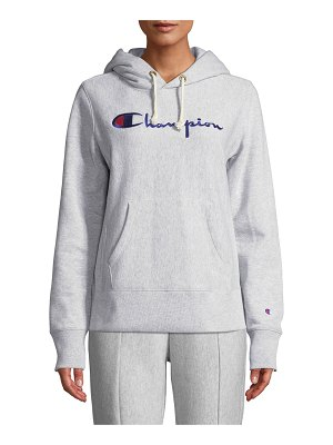 Champion Europe Reverse Weave Hooded Logo Pullover Sweatshirt